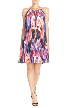 Pleat Chiffon Trapeze Dress by Maggy London on @nordstrom_rack
