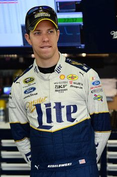Brad Keselowski incurs a penalty during the Sylvania 300 for jumping the restart