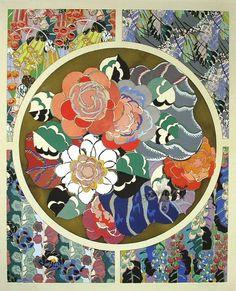 Flowers : Edouard Benedictus Relais : c1930: [Art Deco] #ArtDeco