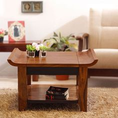 Neo Orient Coffee Table With Shelf - FabFurnish.com