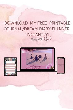✨Beautiful FREE JOURNAL DREAM DIARY EBOOK ✨INSTANT ACCESS JUST SIGN UP 20 PAGES PDF PRINTABLE & EDIT Diary Planner, Life Questions, Instant Access, Yoga Routine, Spam, Ebook Pdf, Free Ebooks, Free Printables, Coaching