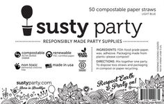 What is Susty Party?  Here you go.  #sustyparty #compostable #castletimehealth