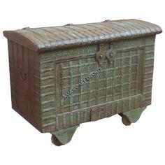 Vintage Indian Wheel Box | Indian Vintage Indian Wheel Box | Rustic Vintage Indian Wheel Box | Antique Vintage Indian Wheel Box | Vintage Indian Wheel Box