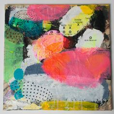 original painting pink white abstract modern decor by eeliethel, $499.00