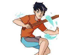 Percy Jackson, son of Poseidon Percy Jackson Fan Art, Percy Jackson Books, Percy Jackson Fandom, Solangelo, Percabeth, Viria, Dibujos Percy Jackson, Sea Of Monsters, Trials Of Apollo