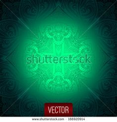 Vector abstract background. Islamic pattern, oriental pattern, vector illustration, floral background. Decorative elements vector. Jewelry b....(c)AlexTanya.