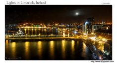 Limerick, Ireland : The lights from our hotel window.
