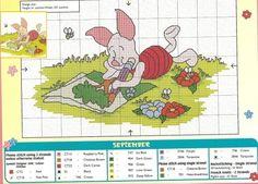 Pooh Bear Calendar-September