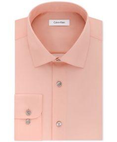 Calvin Klein STEEL Men's Classic-Fit Non-Iron Performance Solid Dress Shirt