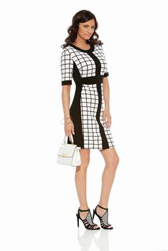 Derby Day Races | Black and White | Joseph Ribkoff 2016 Collection. Arriving soon. Pre-order Tel 03 95932007 #josephribkoff #dress #newseason #2016