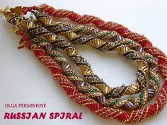 Russian Spirals - several schema - scroll down ~ Seed Bead Tutorials