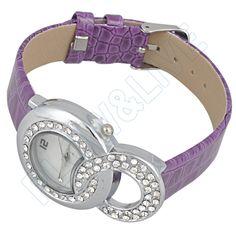 Purple Watches for Girls   Details about Purple Newly Design PU Band Quartz Watch Wrist Charming ...