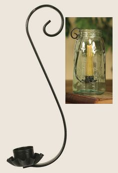 720255 Classic Scroll Taper Candle Holder for Quart Mason Jars 000 - $5.95