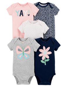 3158127dfb9b8 5-Pack Short-Sleeve Original Bodysuits | Carters.com Baby Bodysuit, Carters