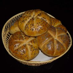 Domácí kaiserky by Jan Stříbrný on www. Ciabatta, 20 Min, Muffin, Bread, Breakfast, Recipes, Image, Thermomix, Morning Coffee