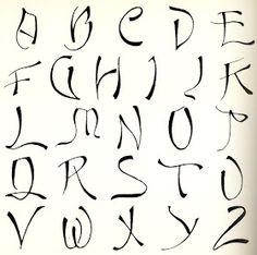 Calligraphy Alphabet : fancy calligraphy alphabet