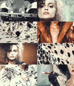 Helena Bonham Carter [as Cruella De Vil feat. the puppies] (Dream Cast by ThoughtsOfLove @deviantART) #101Dalmatians