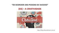 [NOVA PUBLICAÇÃO] - A #CRIATIVIDADE ... Não é fruto do nosso TRABALHO ÁRDUO nem do nosso ESFORÇO... Sabes de onde vem? http://www.slideshare.net/miguel-duarte/criatividade-44039502 #criativo #ideias #IdeiaGenial #InspiracaoGenuina #OtimasIdeias #motivacao #ihaveadream #miguelduarte #InternetMarketer