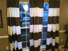 Horizontal Stripe Window Panel Curtain Drape by avesANDeddie but in a different color Drapes Curtains, Horizontal Stripes, Striped Shower Curtains, Curtains, Panel Curtains, Horizontal Stripe, Beautiful Curtains, Home Decor, Horizontal Striped Curtains