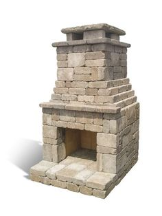Romanstone's highly rated Fremont DIY outdoor fireplace kit offers easy no mortar construction. Outdoor Fireplace Patio, Outdoor Stone Fireplaces, Outside Fireplace, Outdoor Pergola, Diy Fireplace, Fireplace Design, Diy Pergola, Indoor Outdoor, Pergola Ideas