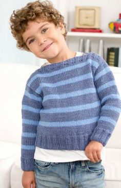 Boat Neck Striped Pullover - Usually I hate boat-neck anything ... but my kid's got a big head.