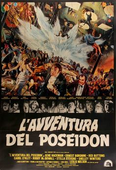 Poseidon Adventure (1972) Original Linen-Backed Italian 4 Fogli Movie Poster