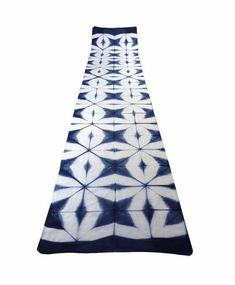 Silk Cotton Itajime super-long scarf. Panacea Textile