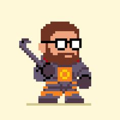 Gordon Freeman from Half-Life Created by pxlflx