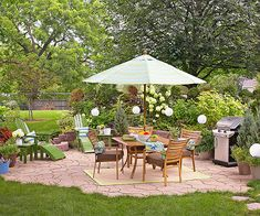 This is what I want for the backyard!!  Very organic looking.  I don't want bland straight lines.