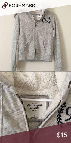 Abercrombie Sherpa Hoodie Brand new Abercrombie & Fitch Tops Sweatshirts & Hoodies