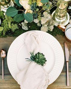Woodland wedding inspiration, Succulent wedding, Bohemian table, Wedding place s… - Modern Table Place Settings, Wedding Place Settings, Bridal Shoot, Wedding Shoot, Table Wedding, Wedding Ideas, Trendy Wedding, Wedding Trends, Wedding Details