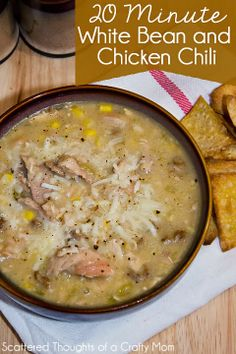 Easy 20 Minute White Bean and Chicken Chili