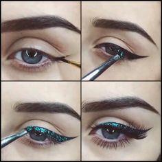 #eyeliner#turqouis sparkle