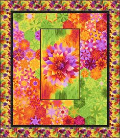 New Ideas For Panel Quilting Inspiration One Block Wonder, Quilting Projects, Quilting Designs, Quilt Design, Quilting Ideas, Star Quilts, Quilt Blocks, Fabric Panel Quilts, Kaleidoscope Quilt