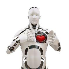 Robot avec le coeur ouvert Banque d'images - 12799896