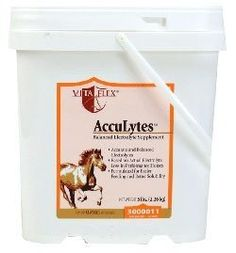 AccuLytes (5 lb) by Vita Flex. $23.99. The AccuLytes formula is based upon recent studies of electrolye loss in equine sweat and reflects ongoing research into the benefits of improved dietary cation/anion balance and buffering capacity. AccuLytes is a premium quality supplement for accurate replacement of the full spectrum of electrolytes in performance horses. AccuLytesis a premium quality supplement for accurate replacement of the full spectrum of electrolytes in performance ...