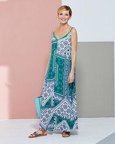 Paisley Print Trapeze Maxi Dress | Marisota