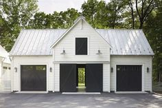 garage ideas Why you need a detached garage? Its also great for the overall house look. You have a neat standalone house without garage as its tails (or wings). Metal Building Homes, Building A Shed, Building Ideas, Metal Homes, Morton Building, Building Plans, Building Design, Plan Garage, Garage Shop Plans