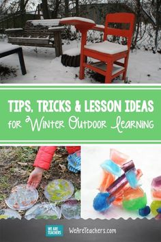 Tips, Tricks and Lesson Ideas for Winter Outdoor Learning. Ready to take learning outdoors, no matter the weather? Check out this list of winter outdoor learning tips, tricks, and ideas. Classroom Activities, Learning Activities, Sit Spots, Playground Games, Give Directions, Outdoor Classroom, Outdoor Learning, Science Lessons, After School