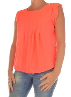 BLOUSE SHORTSLEEVE DAMES NEW CORSI SL TOP oranje Vero Moda