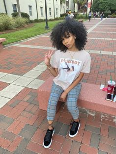 Cute Swag Outfits, Casual Outfits, Girl Outfits, Fashion Outfits, Girls Natural Hairstyles, Natural Hair Styles, Pelo Afro, Bad Girls Club, Beautiful Black Girl