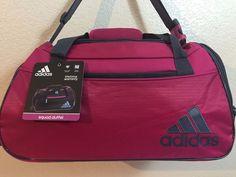 2ab8ea7d443 ADIDAS Squad II Duffel Women Bold Pink Deepest Space Gym bag luggage Shoe  tunnel