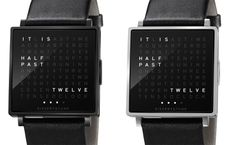 QlockTwo W – World's first wristwatch that tells time in words......cool!
