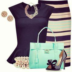 Haute Look love the peplum top and skirt