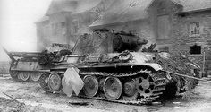 Several Panther tanks knocked out after fierce fighting
