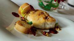 Gueule pavé aux anchois, coeur de palmiste braise, condiment citron et chorizo ibérico. Recette: Chef Atul Kochhar