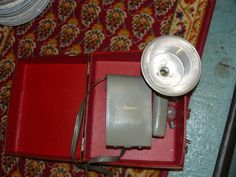 Vintage Antique Photography Equipment, Anscoflex 2 Ansco Camera with Flash and Case at Scranberry Coop Andover NJ