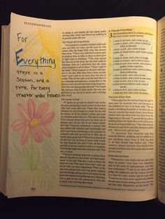 Ephesians 3:1 For Everything there is a Season.