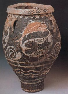 Minoan Kamares pithos with fish | Replicas of Ancient Greek Art