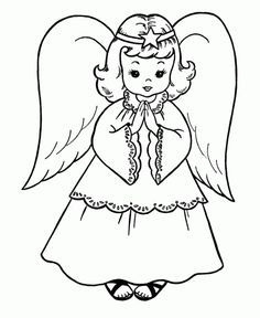 Christmas angel with holly coloring page Coloring page HOLIDAY